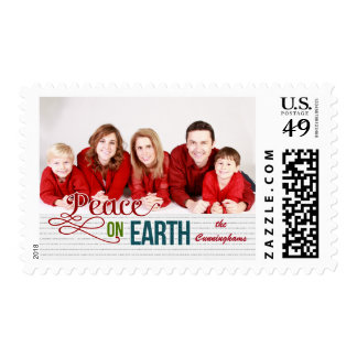 Peace on Earth | Christmas Photo Postage Stamp