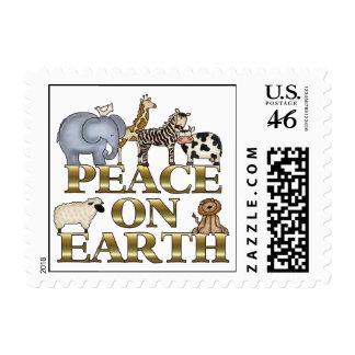 Peace On Earth Christmas Postage Stamp