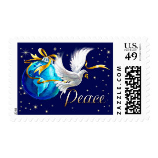 Peace on Earth . Christmas Postage Stamps at Zazzle