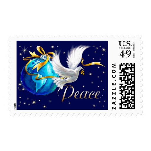 Peace on Earth . Christmas Postage Stamps Stamps