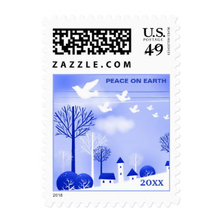 Peace on Earth. Christmas Postage Stamps