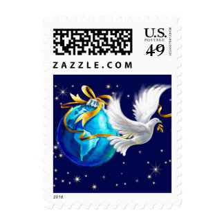 Peace on Earth . Christmas Postage Stamps