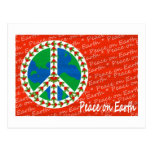 Peace on Earth Christmas Postcard