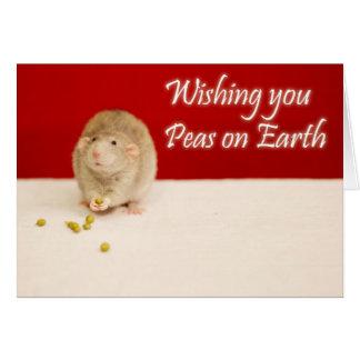 Peace on Earth Christmas Rat Card