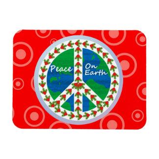 Peace on Earth Christmas Rectangular Photo Magnet