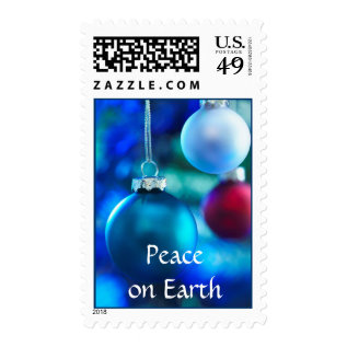 Peace On Earth Christmas Stamps at Zazzle