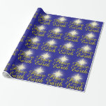 Peace on Earth Christmas Star Wrapping Paper