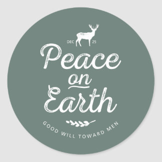 Peace on Earth Christmas Stickers