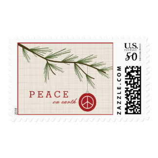 Peace On Earth Christmas Tree Postage