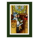 Peace on Earth, Church, Children, Christmas Greeting Card