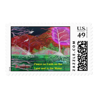 Peace on Earth Collage Postage