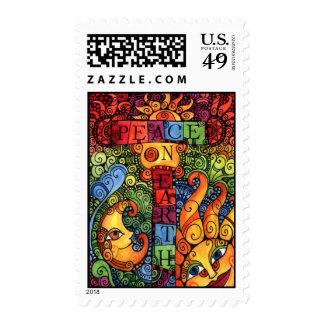 Peace on Earth Custom Holiday / Christmas Postage! Postage