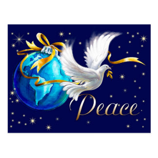Peace on Earth . Customizable Christmas Postcards