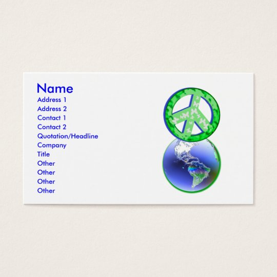 Peace on Earth Day - Business Business Card