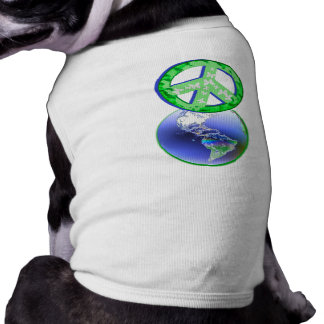 Peace on Earth Day Dog Tshirt