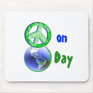 Peace on Earth Day Mouse Mat