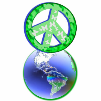 Peace on Earth Day Standing Photo Sculpture