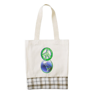 Peace on Earth Day Zazzle HEART Tote Bag