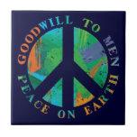 Peace on Earth Decorative Holiday Ceramic Tile