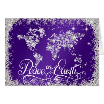 Peace on Earth Diamonds Royal Purple PERSONALIZED Card