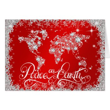Peace on Earth Diamonds Ruby Red PERSONALIZED Card