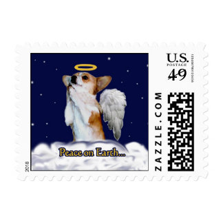 Peace on Earth Dott Angel Small Postage