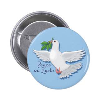 Peace on Earth Dove Pinback Buttons