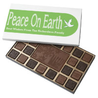 Peace On Earth Dove Christmas Design 45 Piece Box Of Chocolates