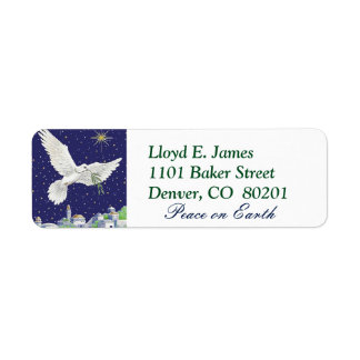 Peace on Earth Dove Christmas Label