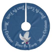 Peace on Earth Dove Custom Color Tree Skirt
