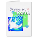 Peace on earth dove design greeting cards