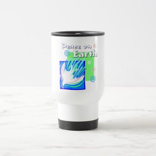 Peace on earth dove design travel mug