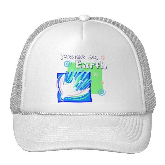Peace on earth dove design trucker hat