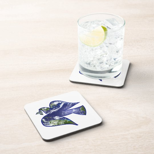 Peace on Earth Dove Drink Coaster