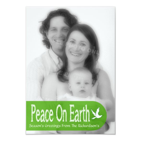 Peace On Earth Dove Holiday Photo Card