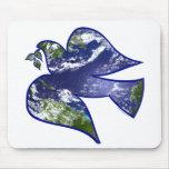 Peace on Earth Dove Mouse Pad