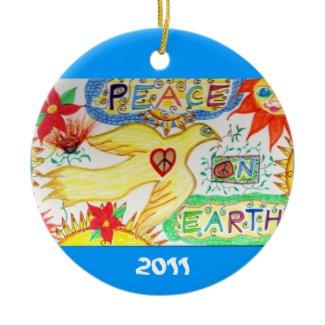Peace on Earth Dove Ornament ornament