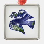 Peace on Earth Dove Ornaments