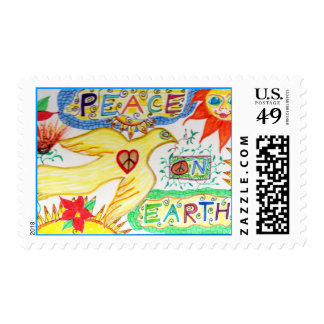 Peace on Earth Dove Postage