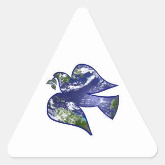 Peace on Earth Dove Triangle Sticker