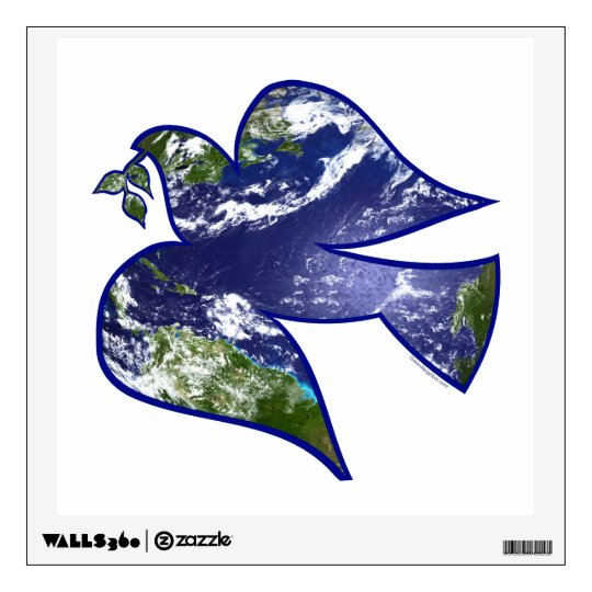 Peace on Earth Dove Wall Decal
