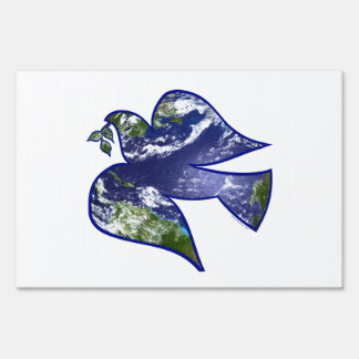 Peace on Earth Dove Yard Sign