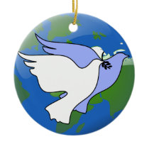 Peace on Earth Doves Ornaments