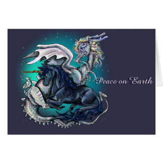 Peace On Earth Dragon and Unicorn Card