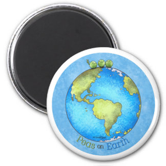 Peace on Earth - Earth day 2 Inch Round Magnet