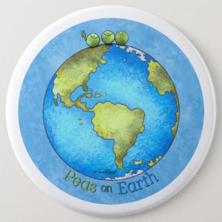 Peace on Earth - Earth day Button
