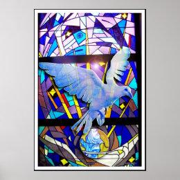 Peace on Earth Easter Dove Digital Poster Art