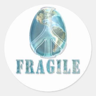 Peace on Earth Egg Sticker