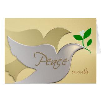 Peace on Earth - Elegant Holiday ChristmasCard Cards