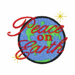 Peace On Earth Embroidered Hoody